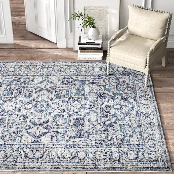 Power Loom Navy Rug In 2020 Navy Rug Light Grey Area Rug Blue And White Rug