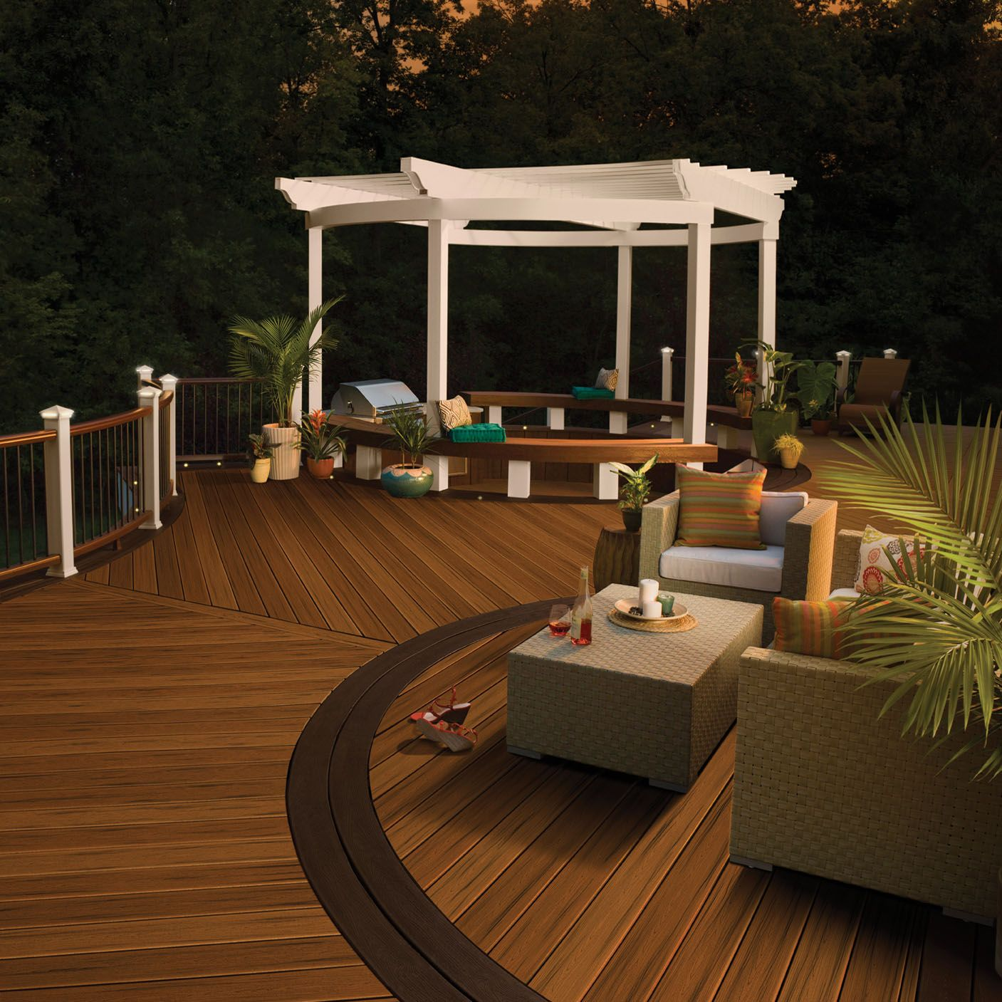 Awesome modern trex decking colors home depot with modern out door livingroom design