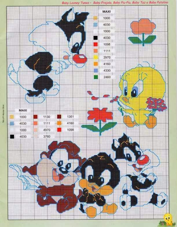 Punto de Cruz Looney Tunes | Disney Crafts | Pinterest | Cross ...