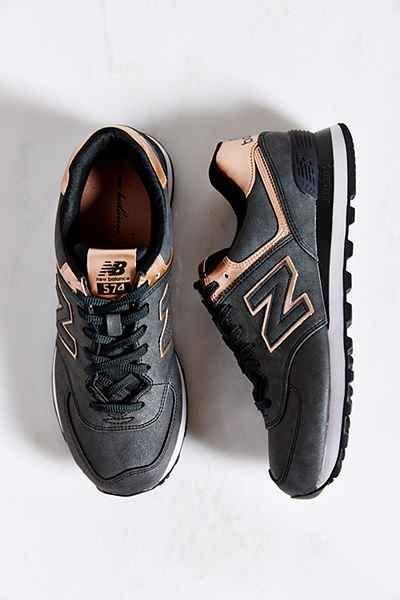 new balance 574 black and bronze