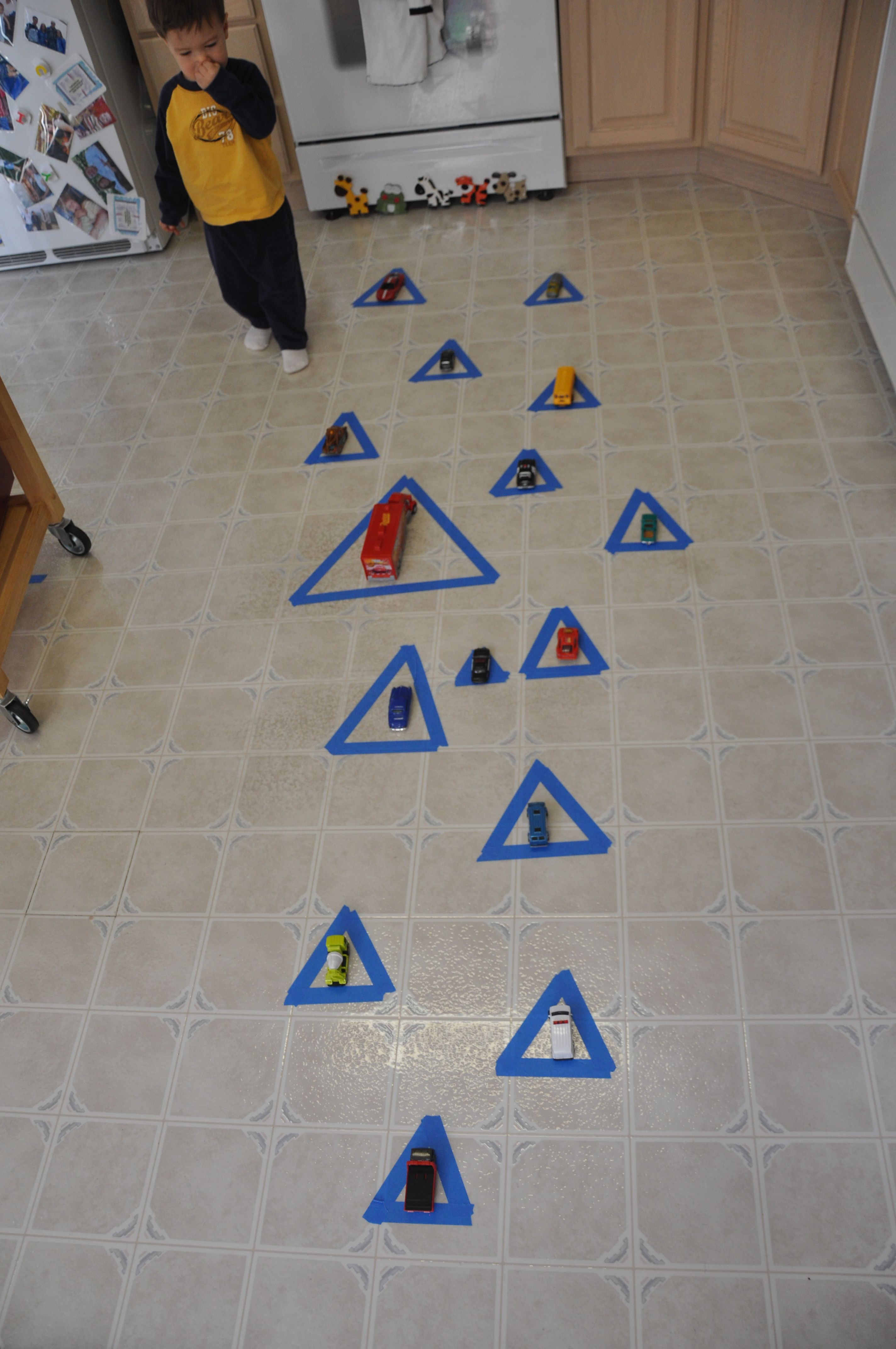 Learning Shapes Triangles