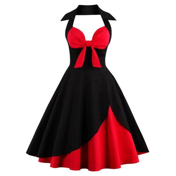 Halter Corset Vintage Rockabilly Swing Dress | Vintage dresses ...