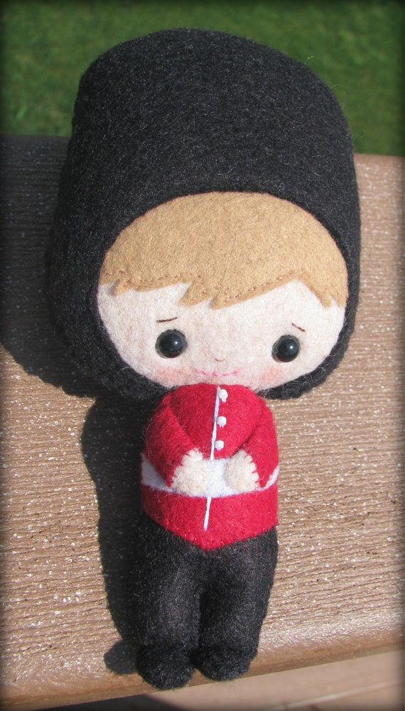 London Guard felt doll British Palace Guard by 1SweetStitch