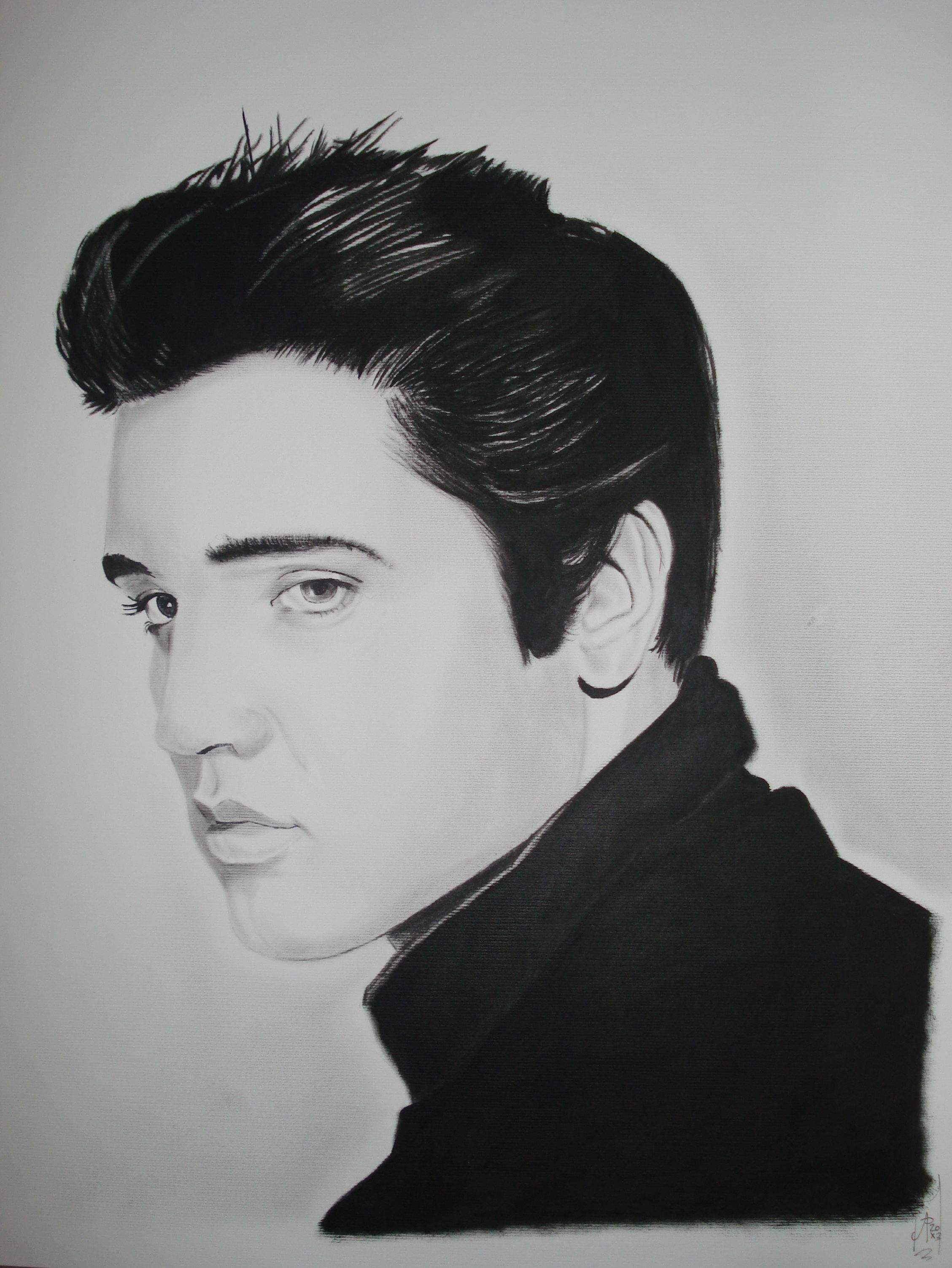 Elvis The King Drawing