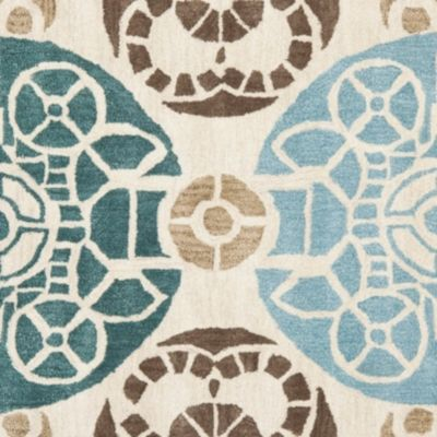 Home Accents WYNDHAM 7' x 7' Square Rug by Ashley HomeStore, Blue & Tan