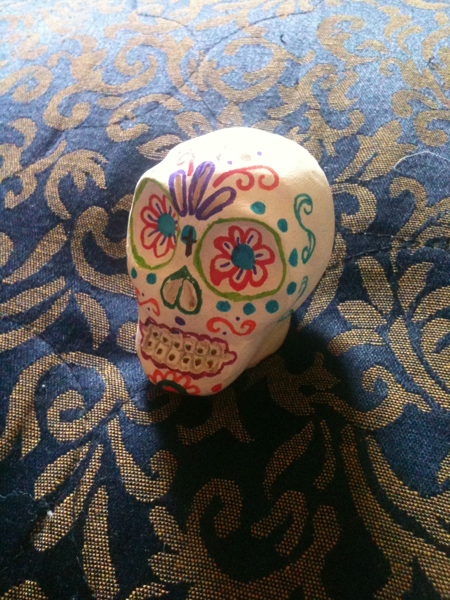 Pin By Monica Bustillos Martinez On Our Creations Crayola Air Dry Clay Air Dry Clay Sugar Skull Diy