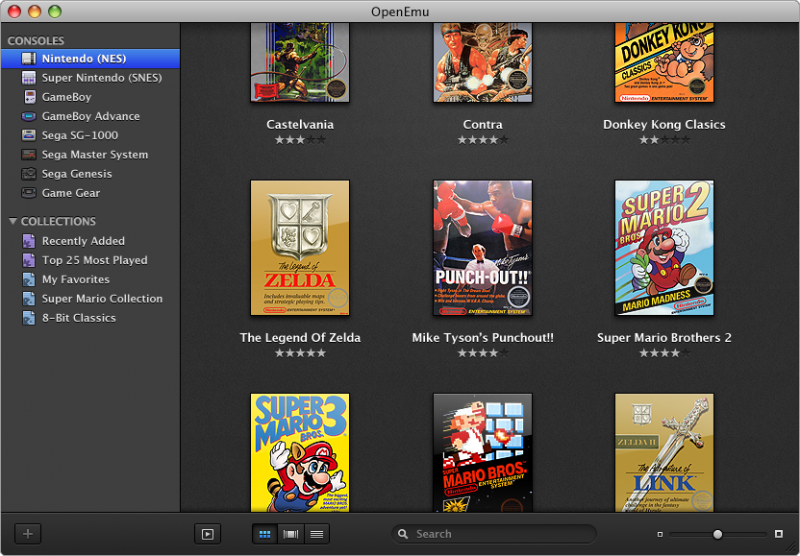 Multisource game emulator on Mac with iTunes like