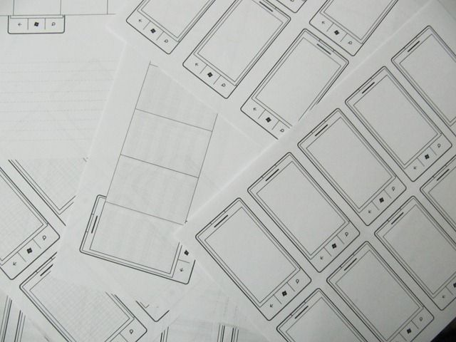 Windows Phone 7 Ux Sketch Templates With Images Templates Web