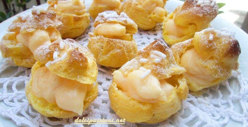 Bignè con crema al limone | Dolci Passioni