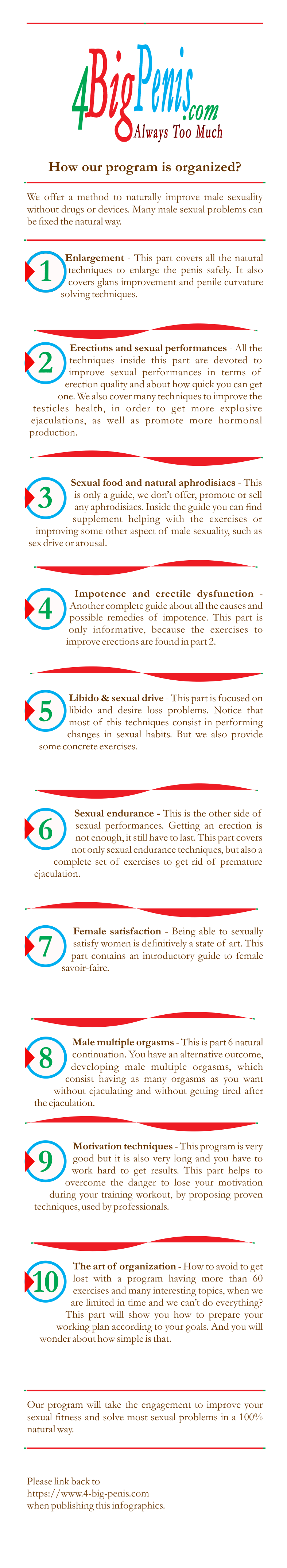 Description and fonctionning of our male sexuality program
