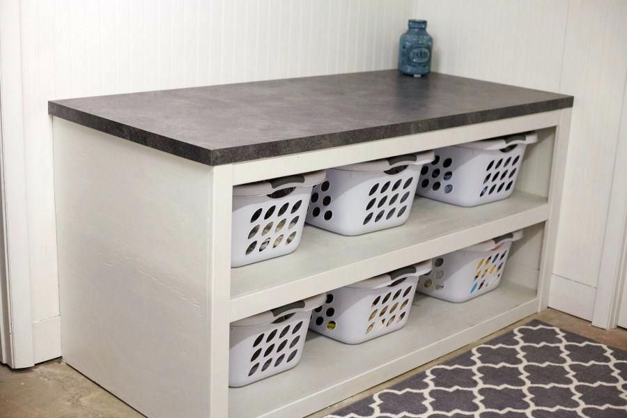 Laundry Sorting Table Laundry Room Office Space Reveal Laundry