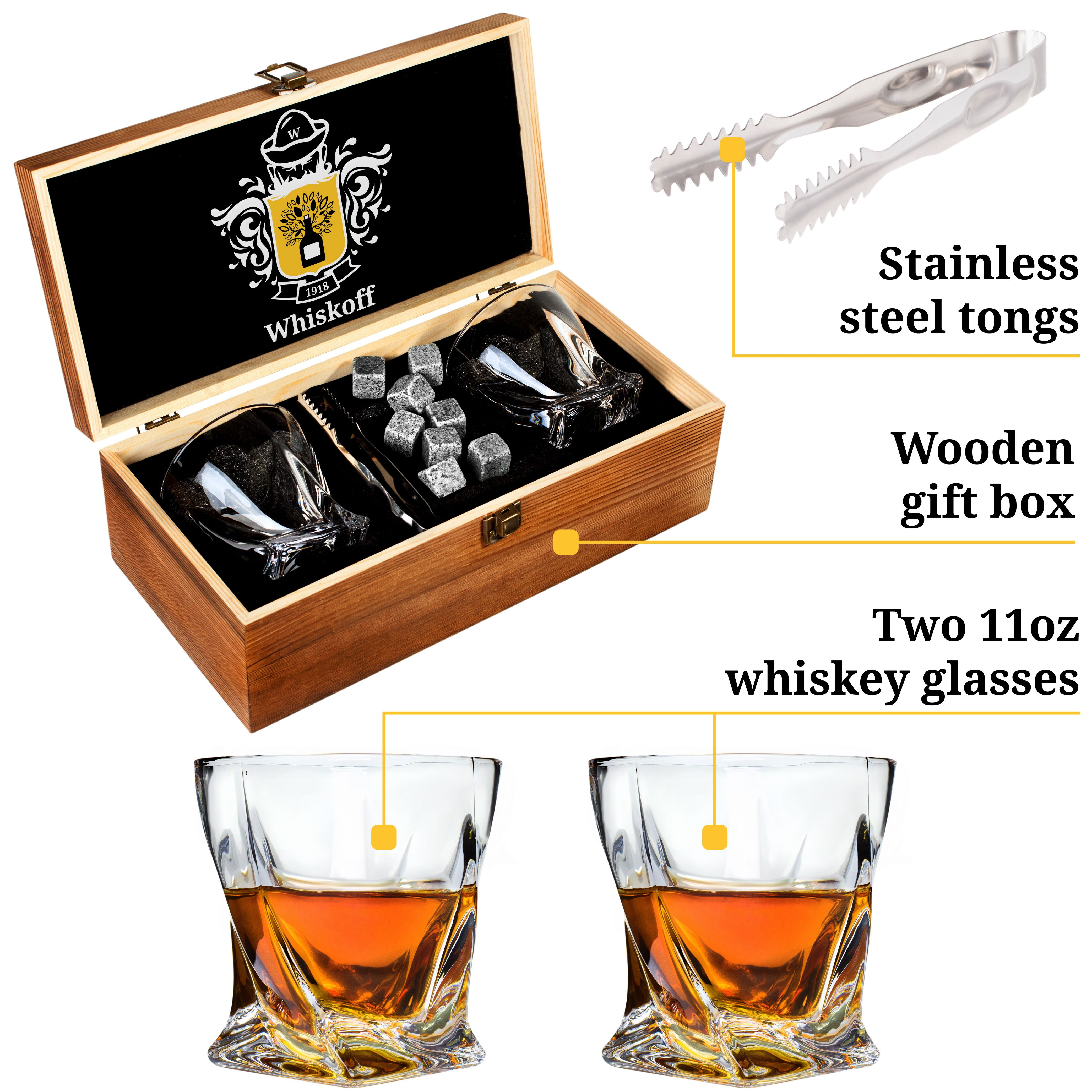 Pin By Whiskoff On Whiskey Glass Set Of 2 Bourbon Stones Gift