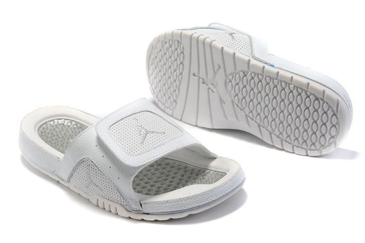 reputable site bccf7 f01a2 Air Jordan 5 Sandals White Grey , Price: $68.35 - Air Jordan Shoes, Michael  Jordan Shoes