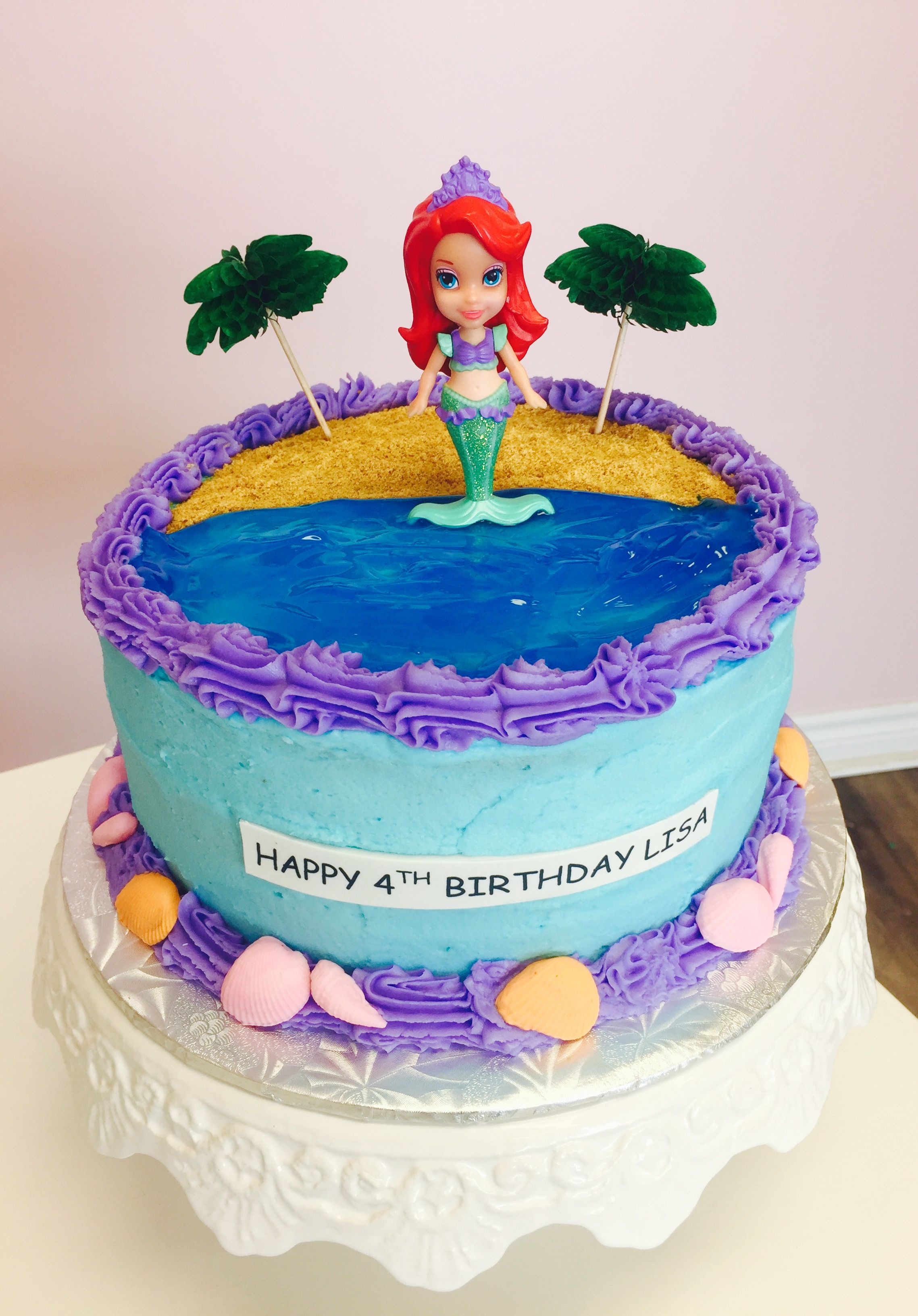 Mermaid Themed Birthday Cake #DvasCakes #Cambridge #Waterloo ...