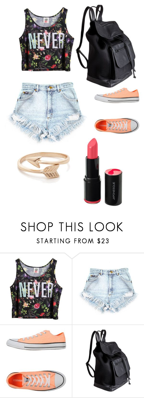 """""""Chill Summer Day ?"""" by desmaraismacy ❤ liked on Polyvore featuring Chicnova Fashion, Converse and Pieces"""