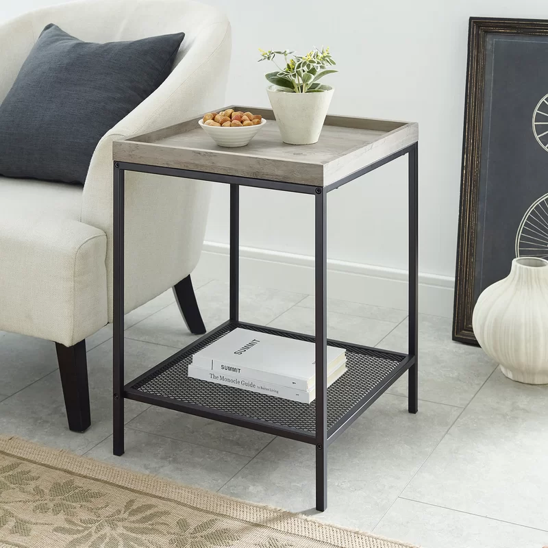 Transitional Grey End Side Tables For Your Signature Style