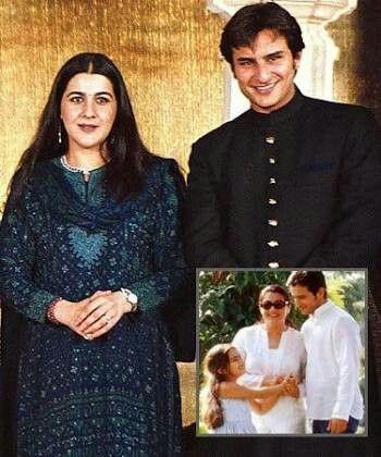 Saif Ali khan and ex wife amrita singh   Bollywood ... Saif Ali Khan Wife List