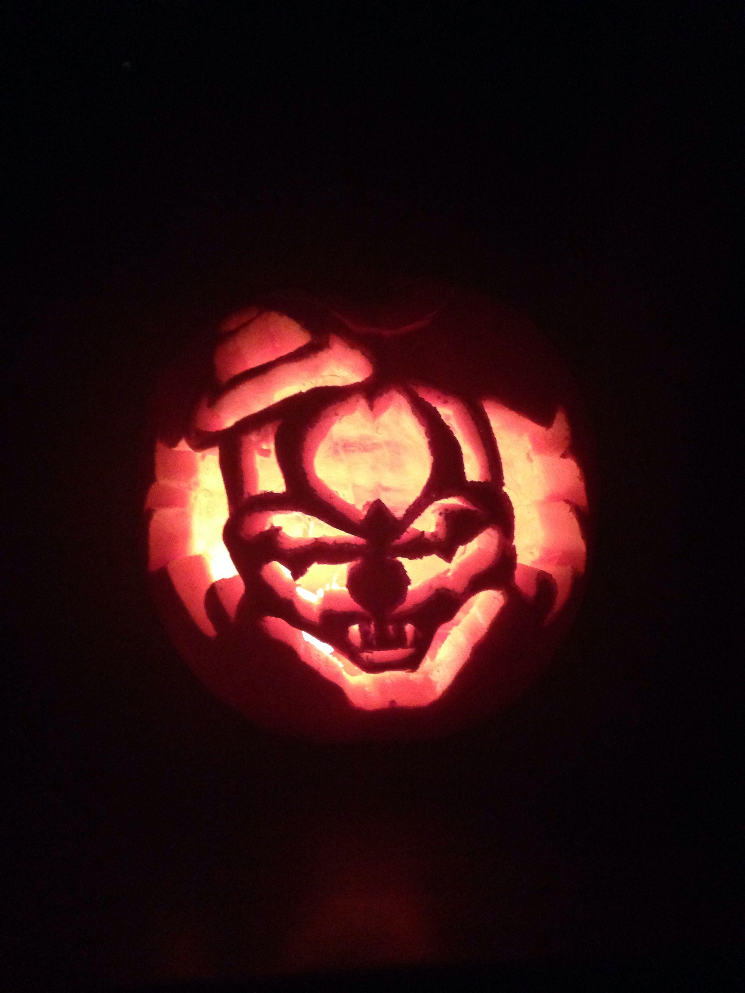 Clown Pumpkin Carving Patterns Simple Design Inspiration