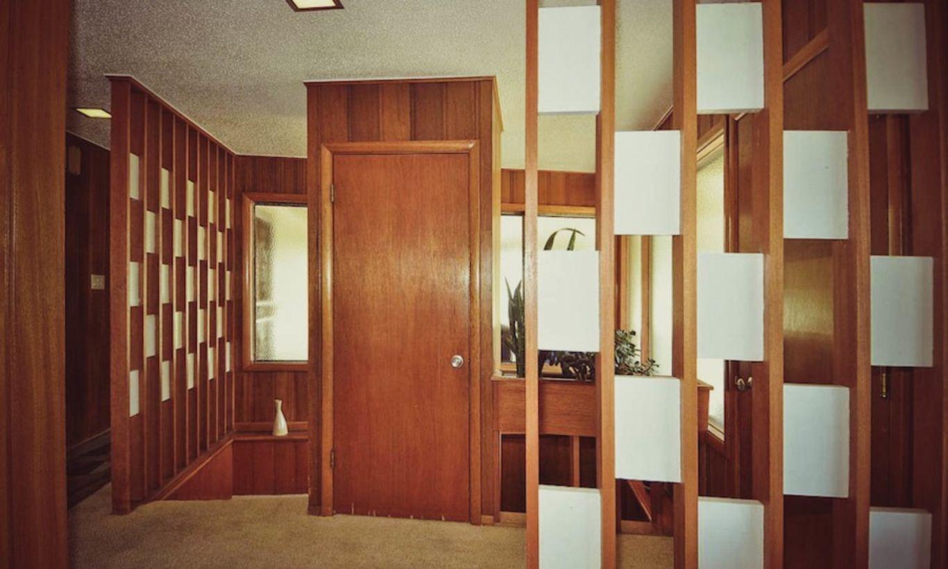 50 Beautiful Foyer Living Room Divider Ideas | Mid century ...
