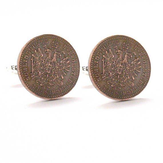 Austria coin cufflinks world coin cuff links