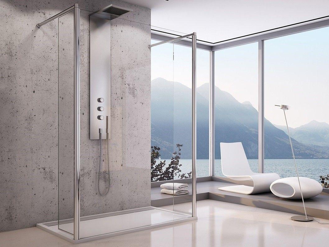 freistehende Duschtrennwand 200 x 200 cm Duschtrennwand