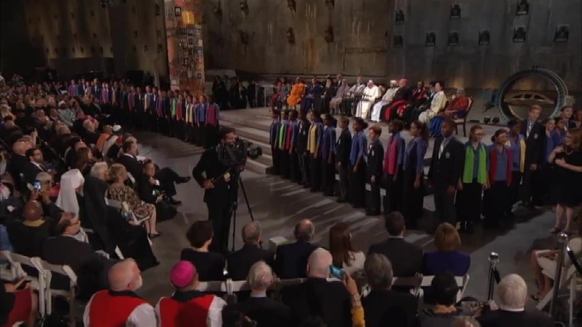 WATCH: Children's Chorus Sings at Ground Zero | NBC New York