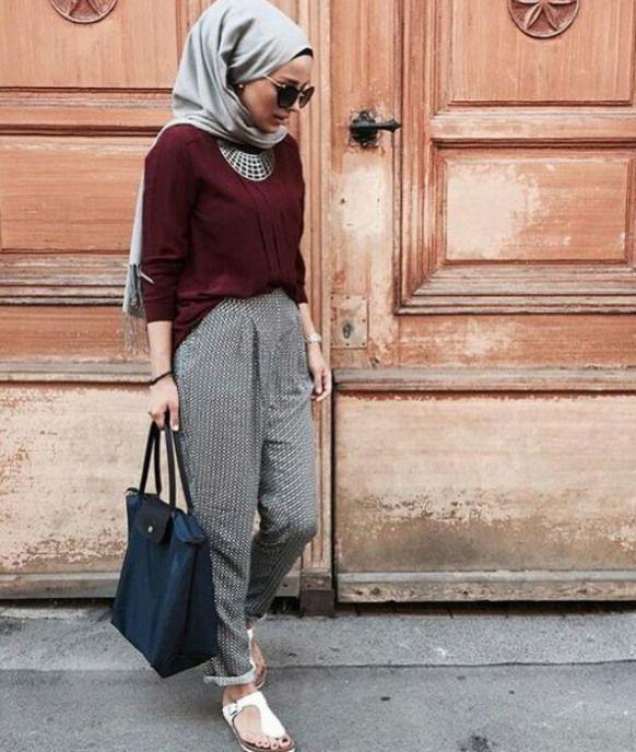 Model Baju Muslim Terbaru Bergaya Casual Model Pakaian Hijab Baju Muslim Gaya Hijab