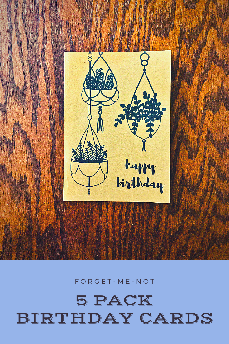 Hanging Plants Birthday Cards Plant Themed Cards Assorted Etsy Birthday Card Drawing Themed Cards Birthday Cards