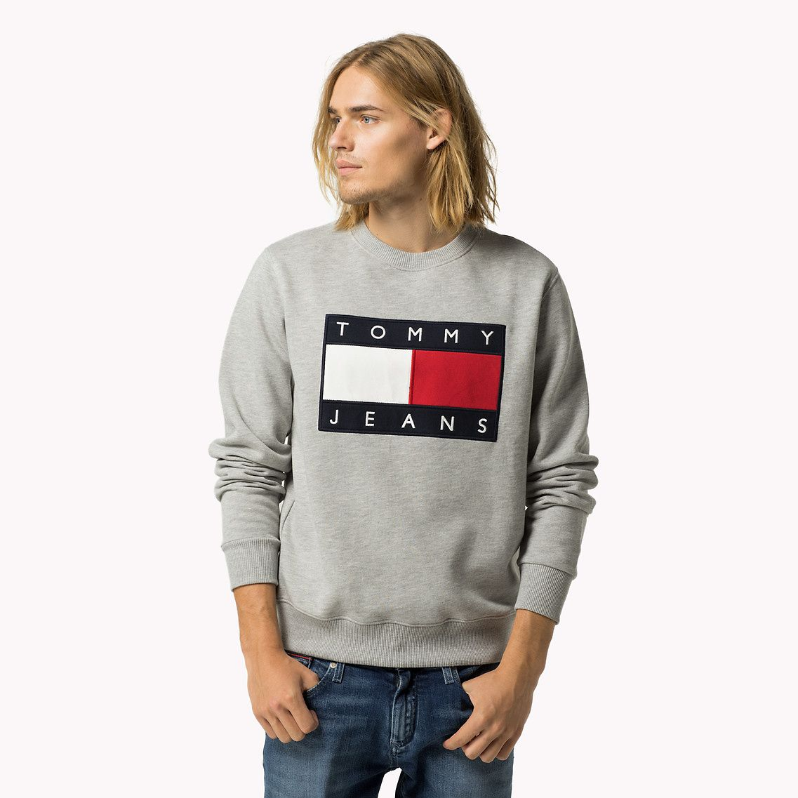 Cotton Fleece Logo Sweatshirt | Black | Tommy Hilfiger® | 8719253944703