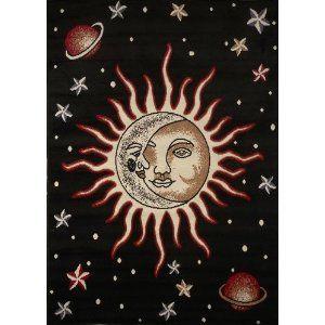Home Dynamix Area Zone Rug 7171 Sun Moon Stars 3 7 X5