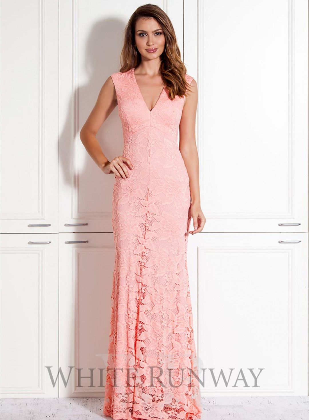Nellie Lace Dress. A gorgeous full length dress by Mr K. A V-neck ...