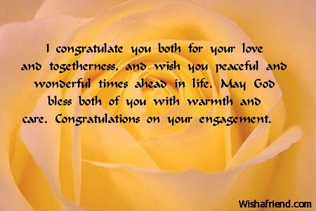 i congratulate you both for your love and togetherness and wish you