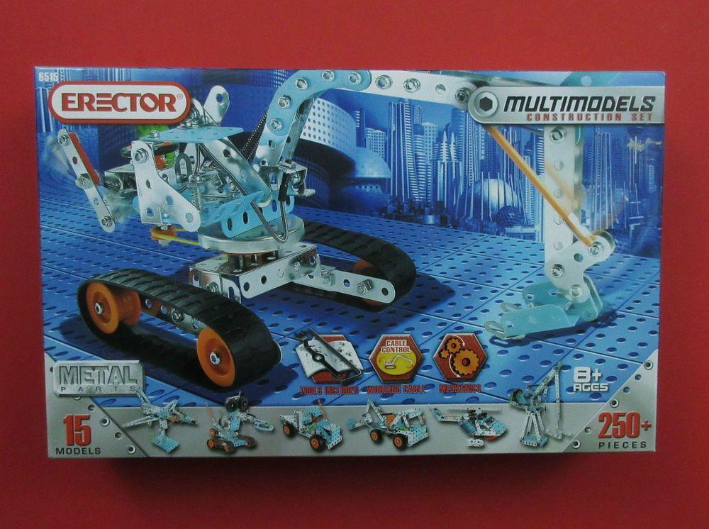 Erector Building Set Set 6515 With Metal Parts That Builds 15