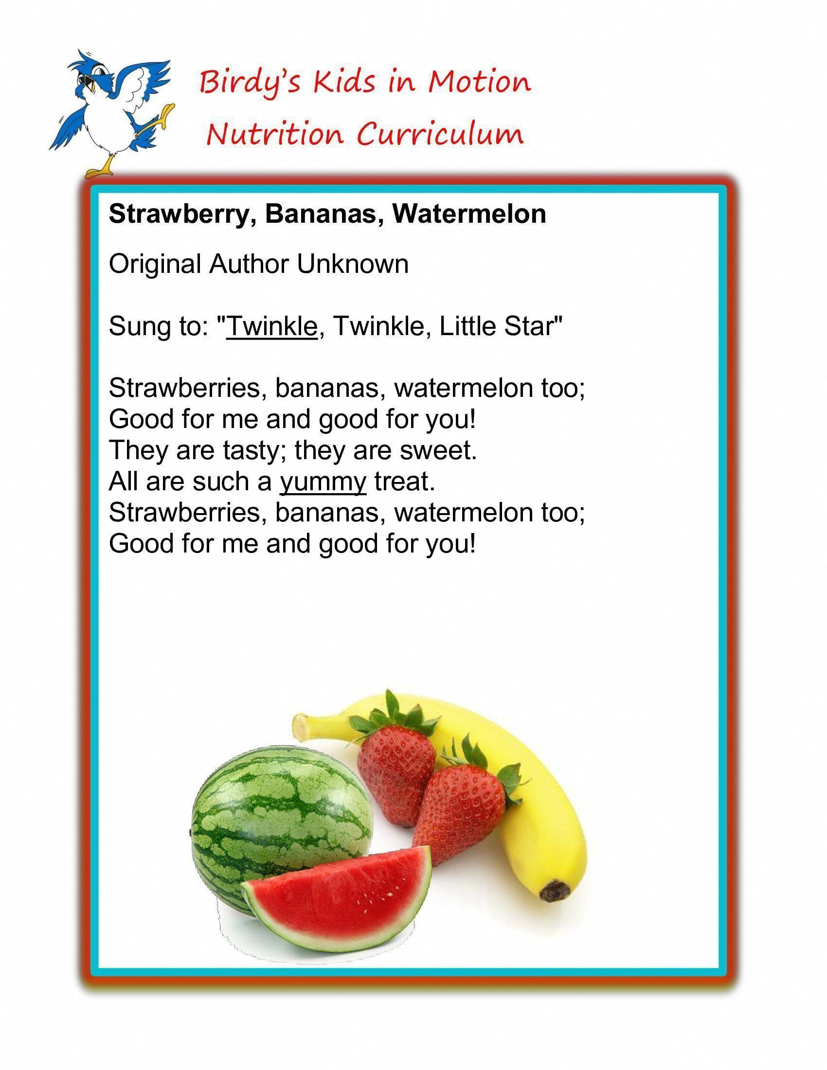 Food And Nutrition Preschool Activities Healthy Eating