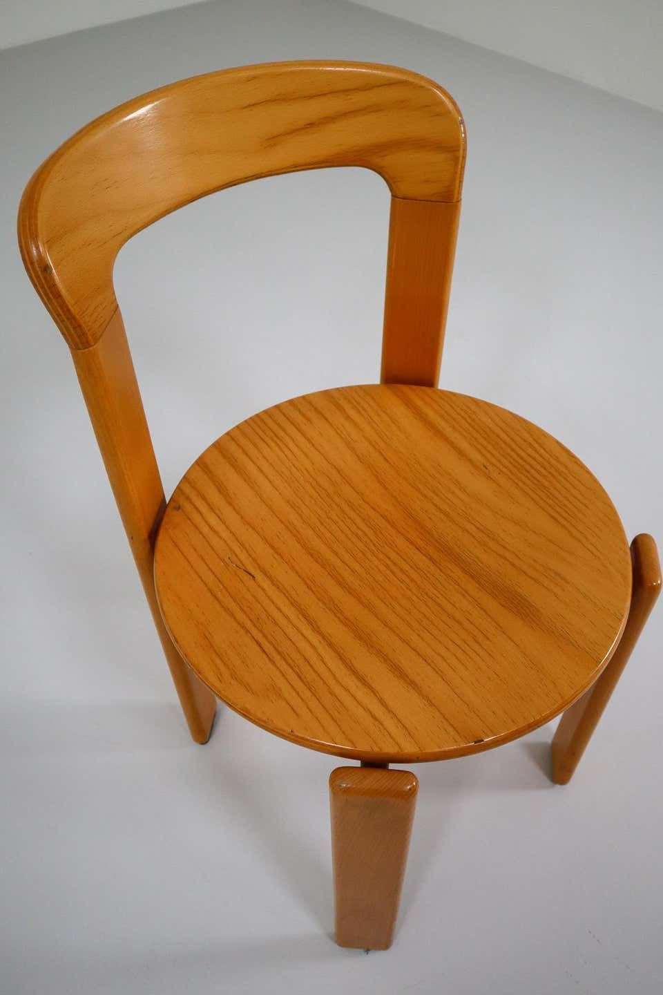 Large Set Chairs By Bruno Rey For Kusch And Co Switzerland 1970s In 2020 Chair Dining Room Chairs Seating
