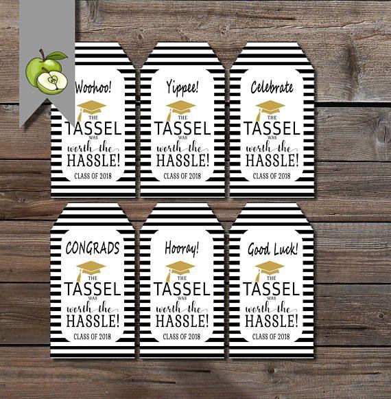graduate printable the tassel was worth the hassle tags graduate