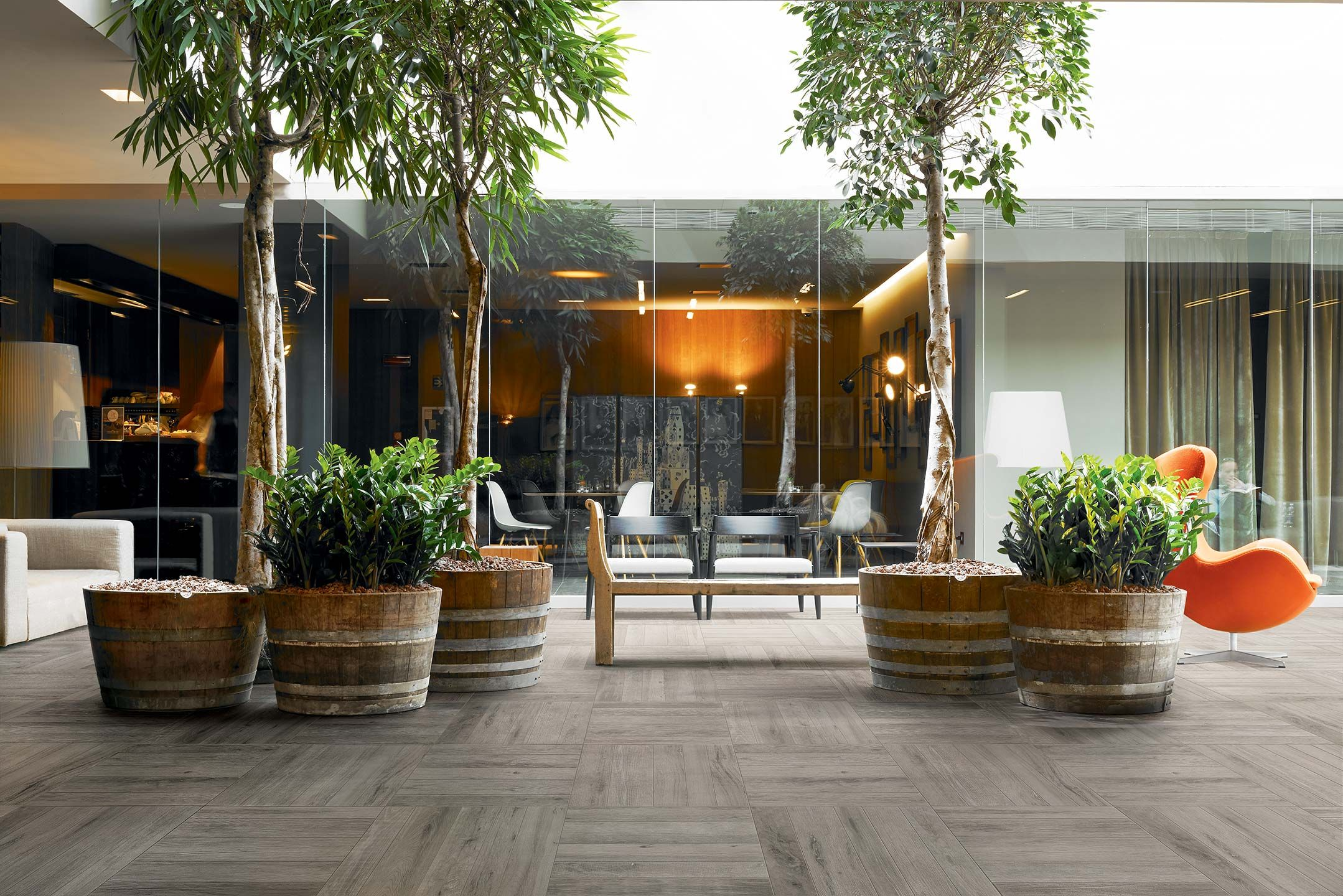 Wood effect floor details wood of cerim beautiful patio for Terrace flooring