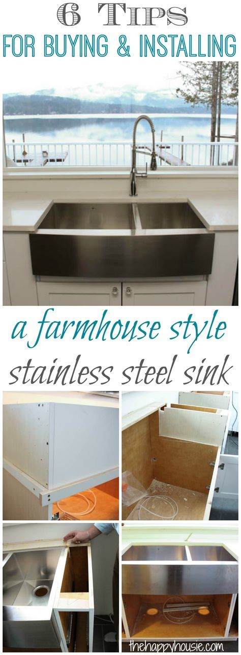 things to know about buying installing a stainless steel farmhouse rh pinterest com