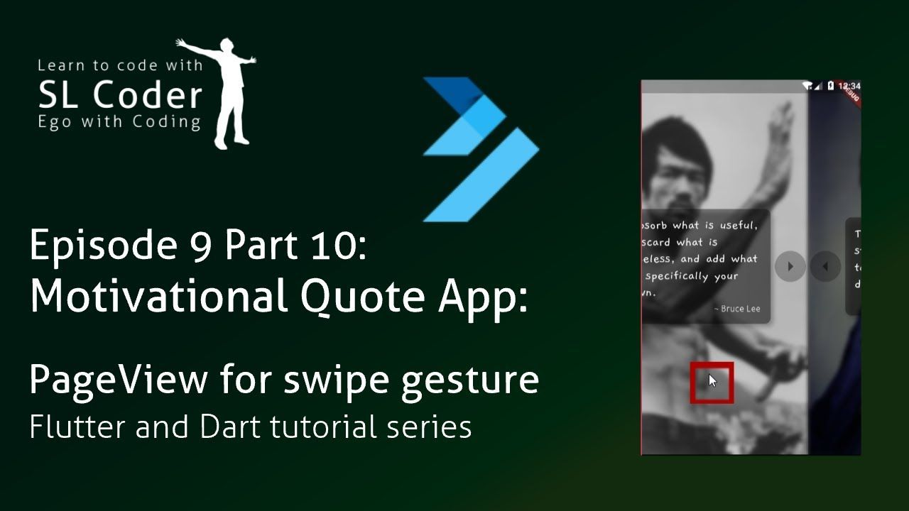 Motiv  quote app: PageView for swipe gesture | Infinite PageView in