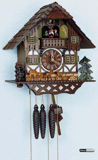 Cuckoo Clock 8-day-movement Chalet-Style 34cm by Anton Schneider - 8TMT873/9