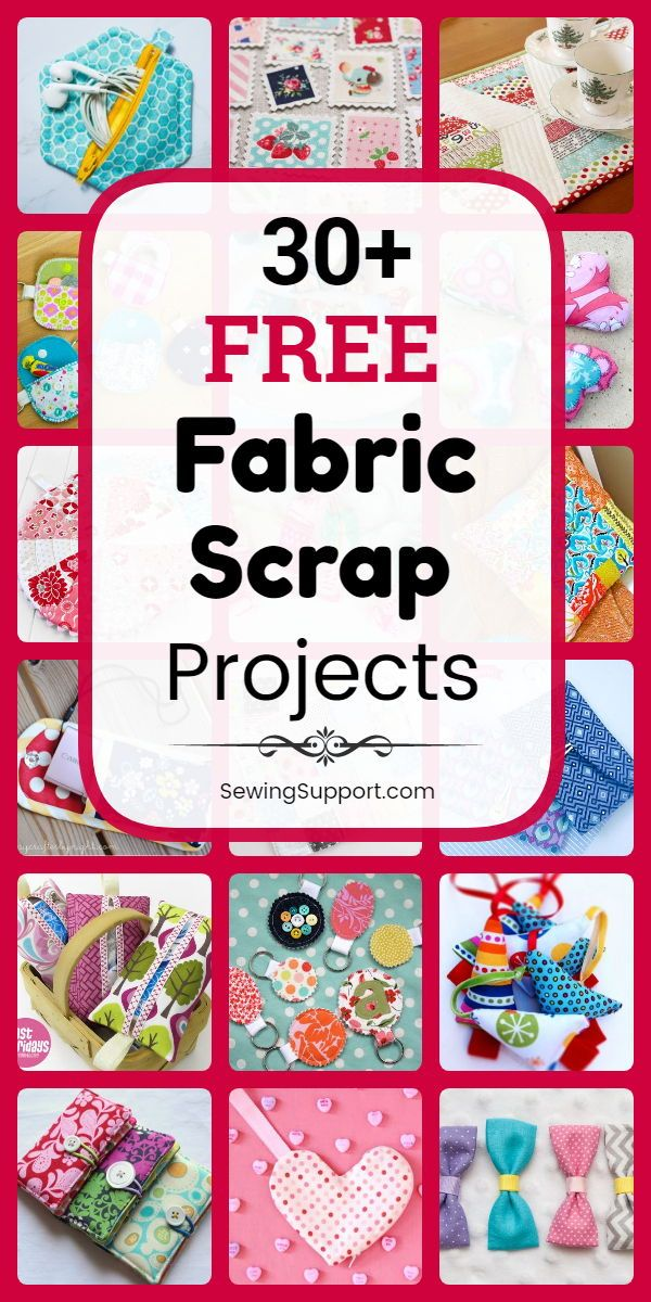 50+ Free Fabric Scrap Projects #sewingprojects