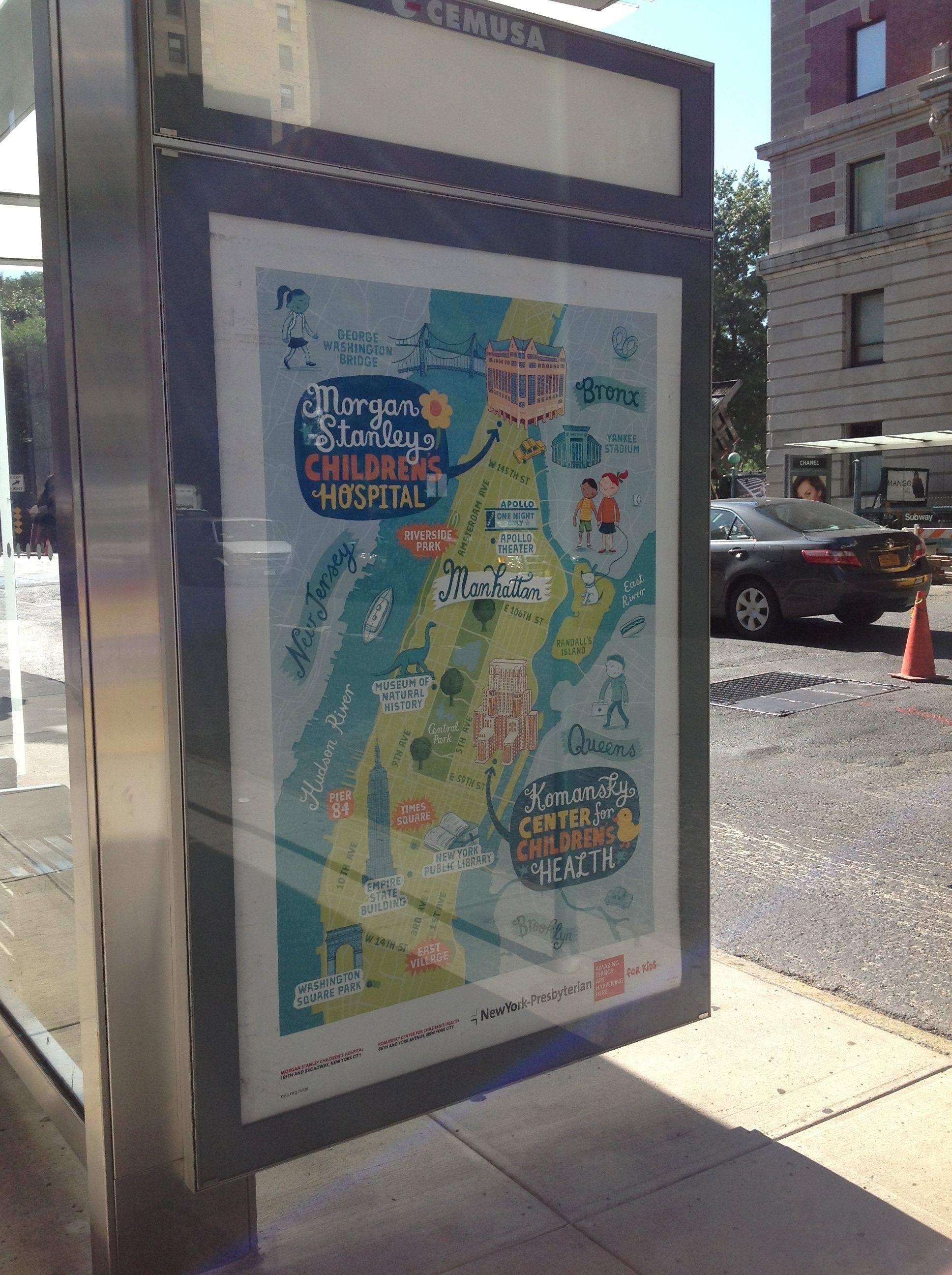 Map for New York Presbyterian Hospital by Linzie Hunter ... New York Presbyterian Hospital Map on