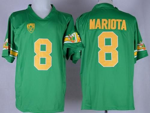 """$25.88 at """"MaryJersey"""" (maryjerseyelway@gmail.com) Ducks 8 Marcus Mariota Green 1994 Throwback Stitched NCAA Jersey"""