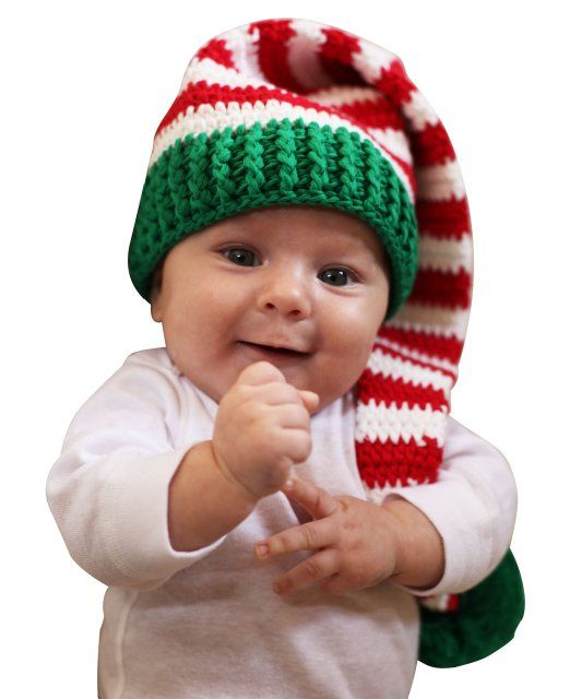 Melondipity Christmas Elf Crochet Baby Stocking Cap