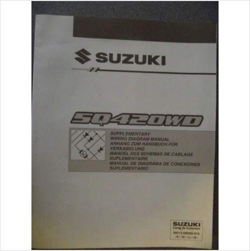 Suzuki Vitara Sq420wd Wiring Diagram Manual 2001