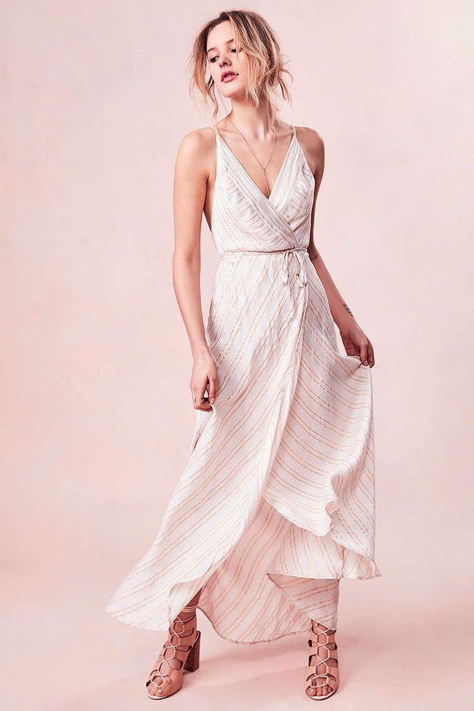 161320ccad33 Kimchi Blue Thistle Sparkle Stripe Wrap Maxi Dress - Urban Outfitters