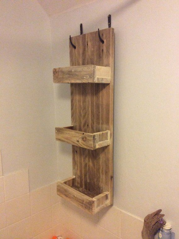 Rustic Bathroom Shelves made from reclaimed pallet wood ...