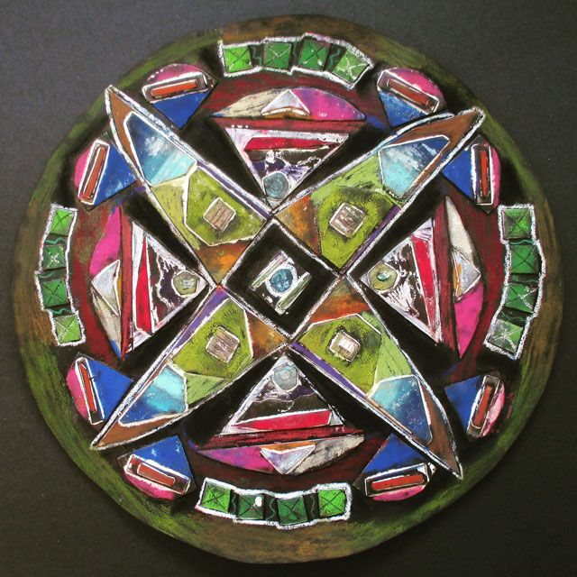 Kaleidoscope Mandala Collagraphs // Art Summer Camp Projects