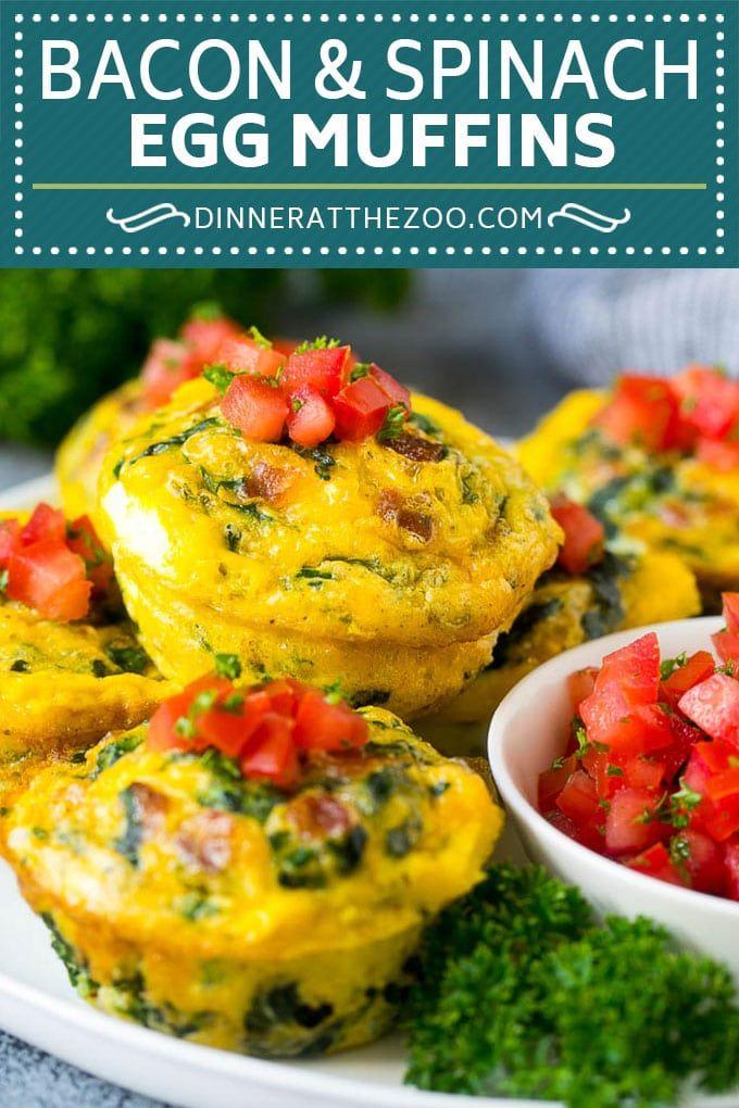 Egg Muffins Recipe   Low Carb Breakfast   Breakfast Meal Prep