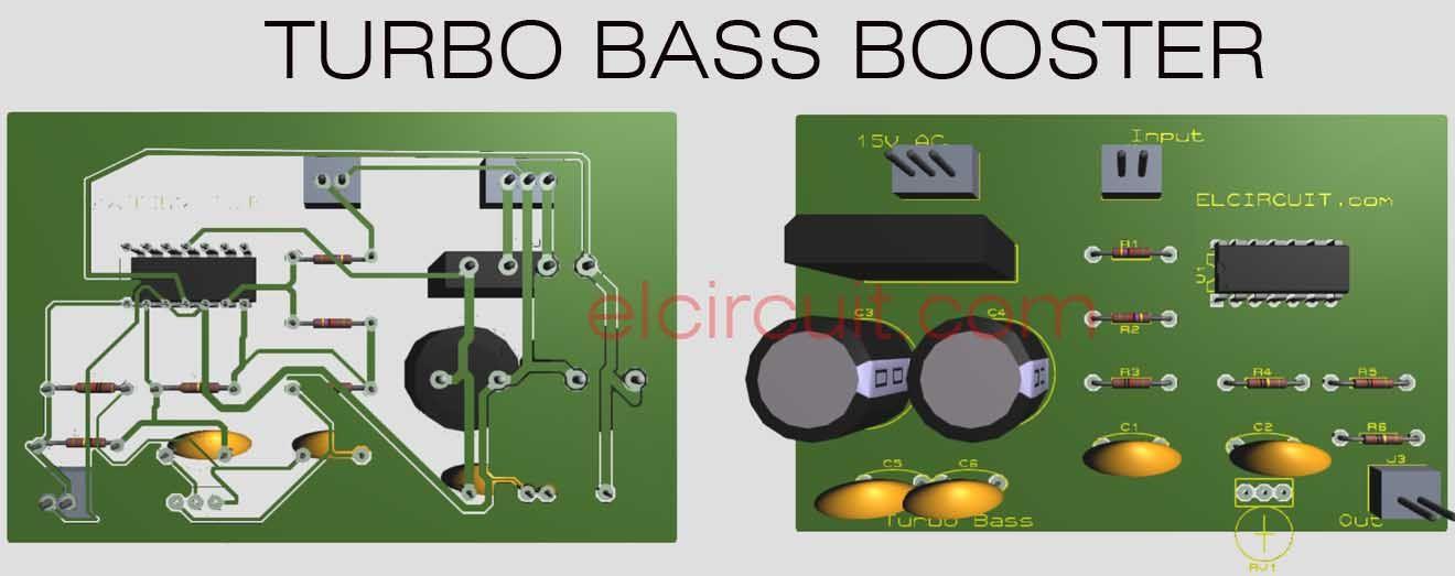 turbo bass or bass booster circuit aparatos pinterest rh pinterest com  turbo bass boost circuit diagram
